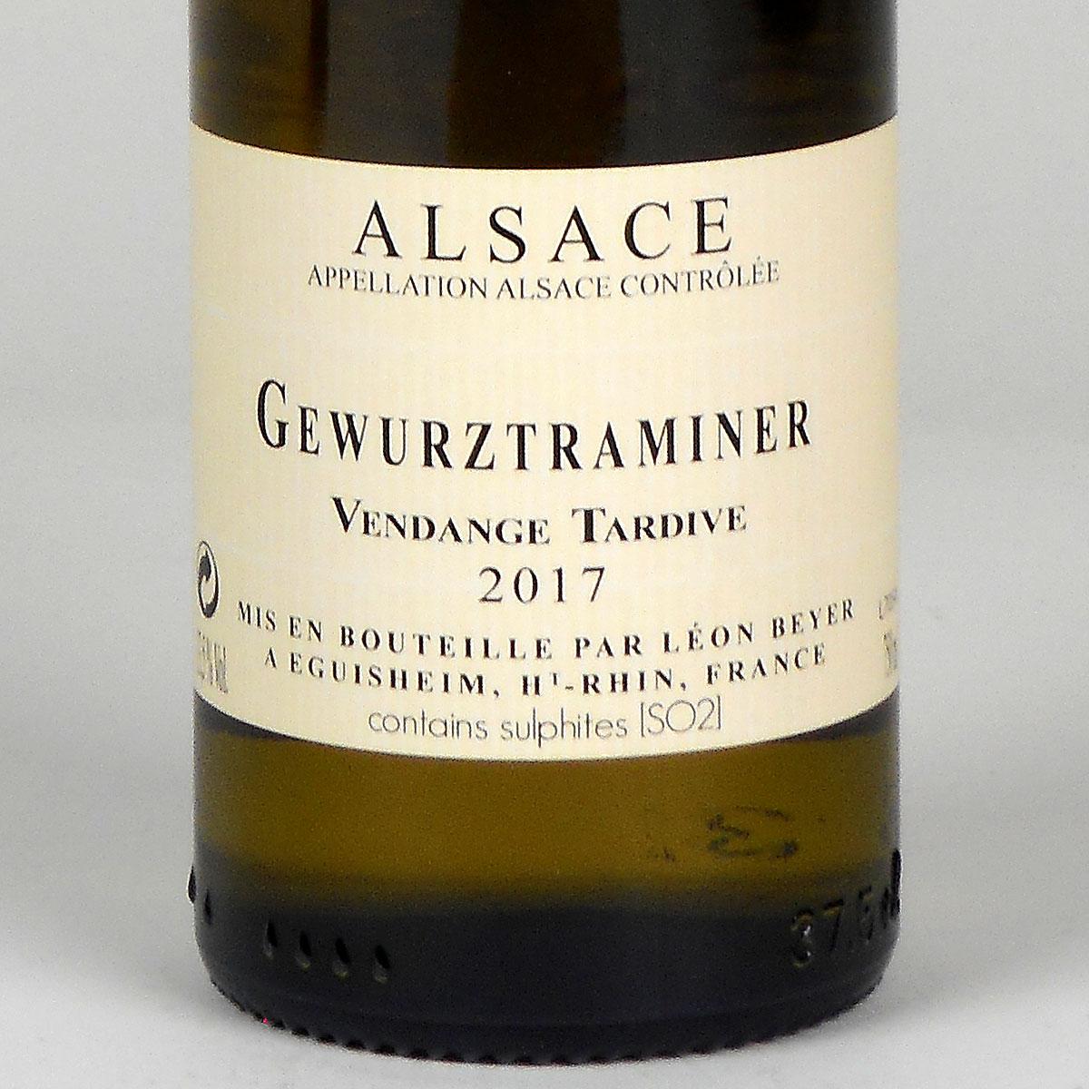 Alsace: Léon Beyer 'Vendange Tardive' Gewürztraminer 2017 - Half Bottle Rear Label