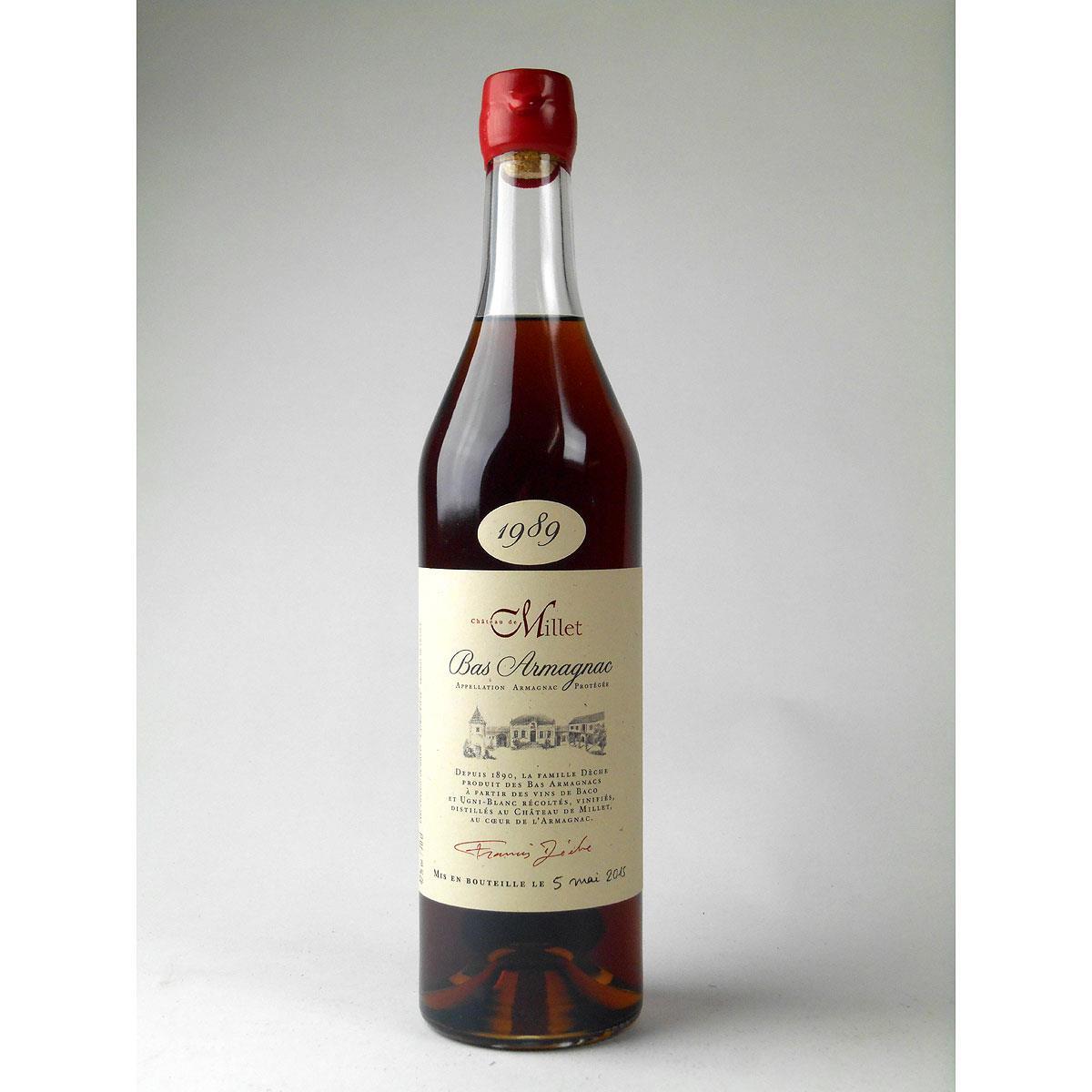 Bas Armagnac - Château de Millet 1989 - Bottle