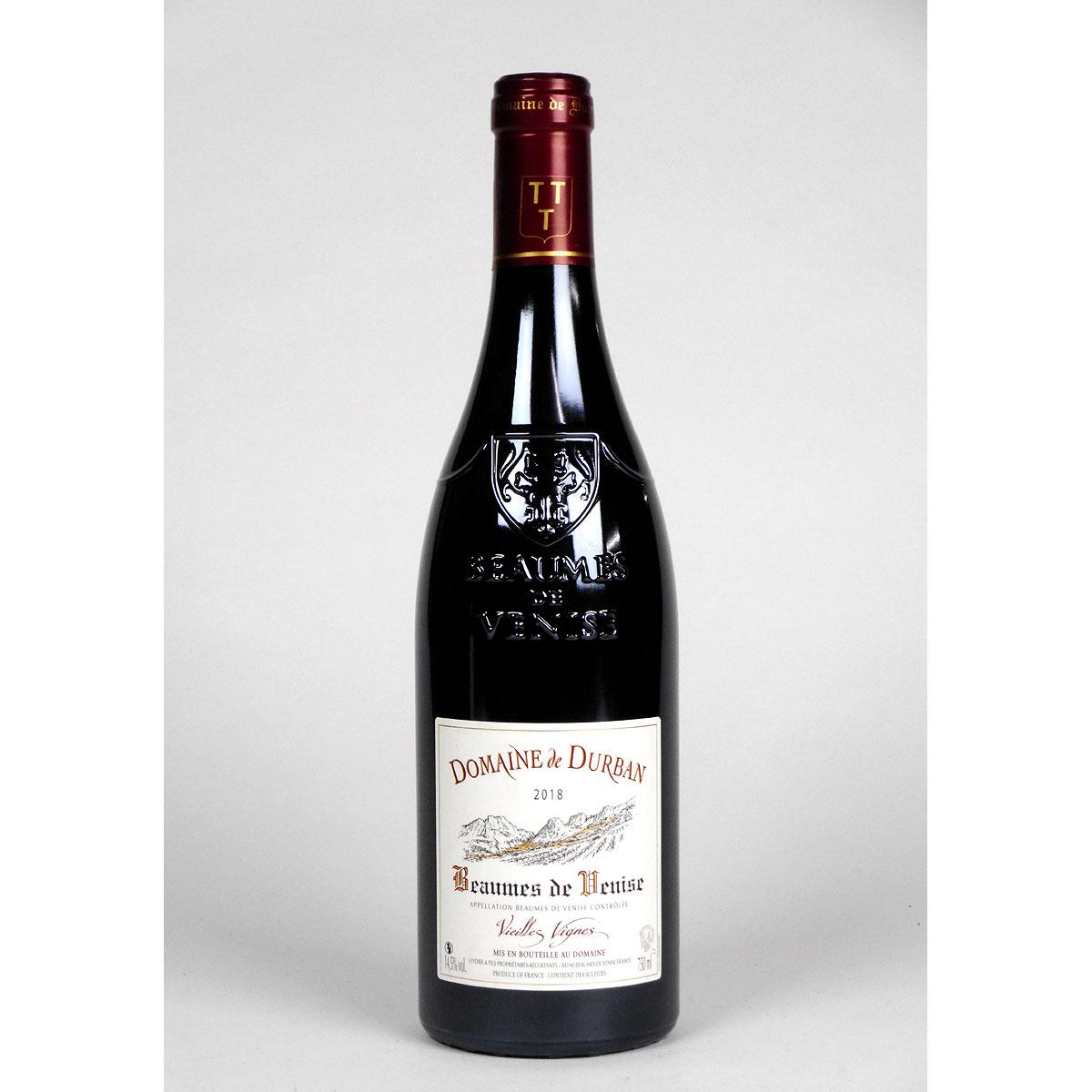 Beaumes de Venise: Domaine de Durban 'Vielles Vignes' 2018 - Bottle