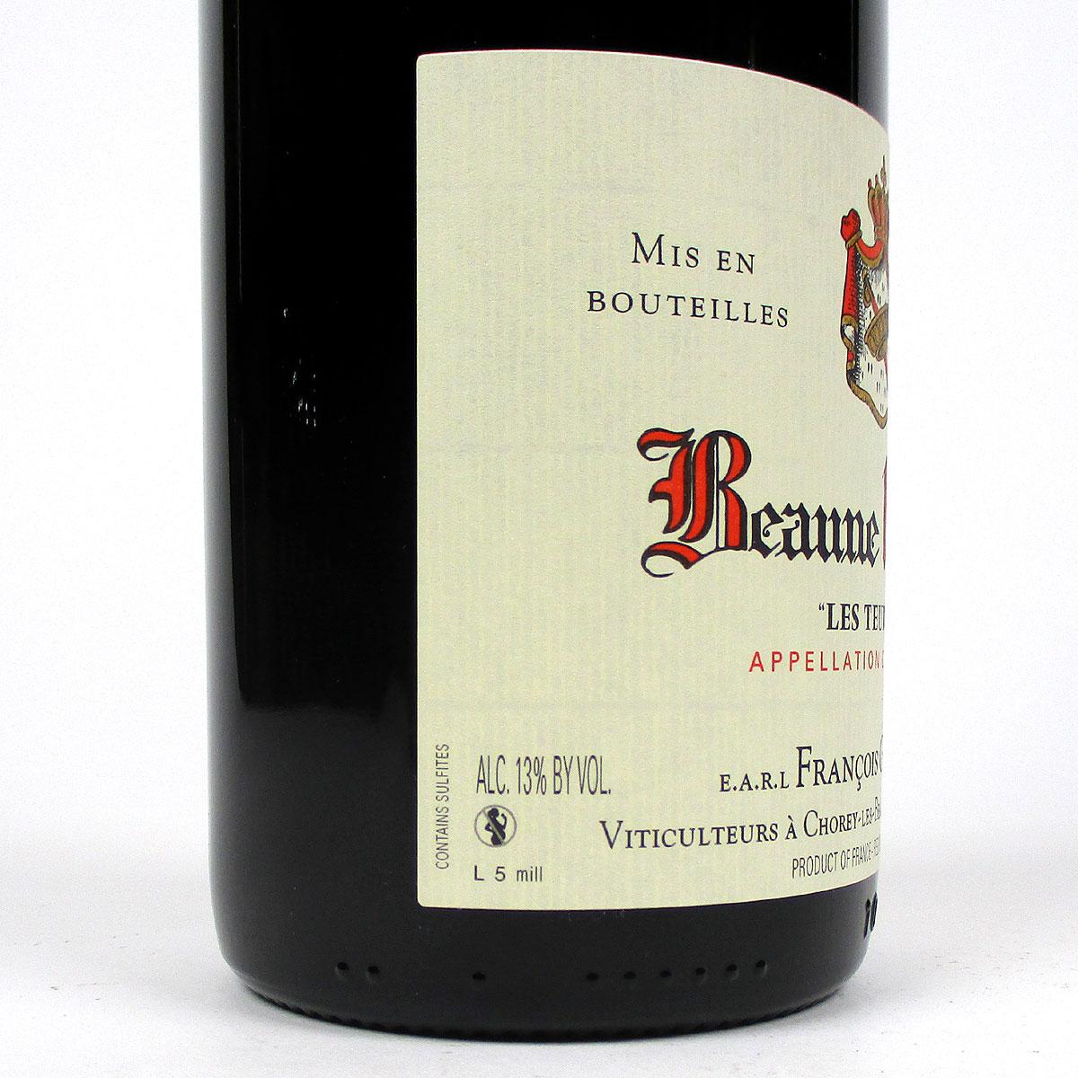 Beaune: Domaine François Gay & Fils 1er Cru 'Les Teurons' 2014 - Bottle Label Side