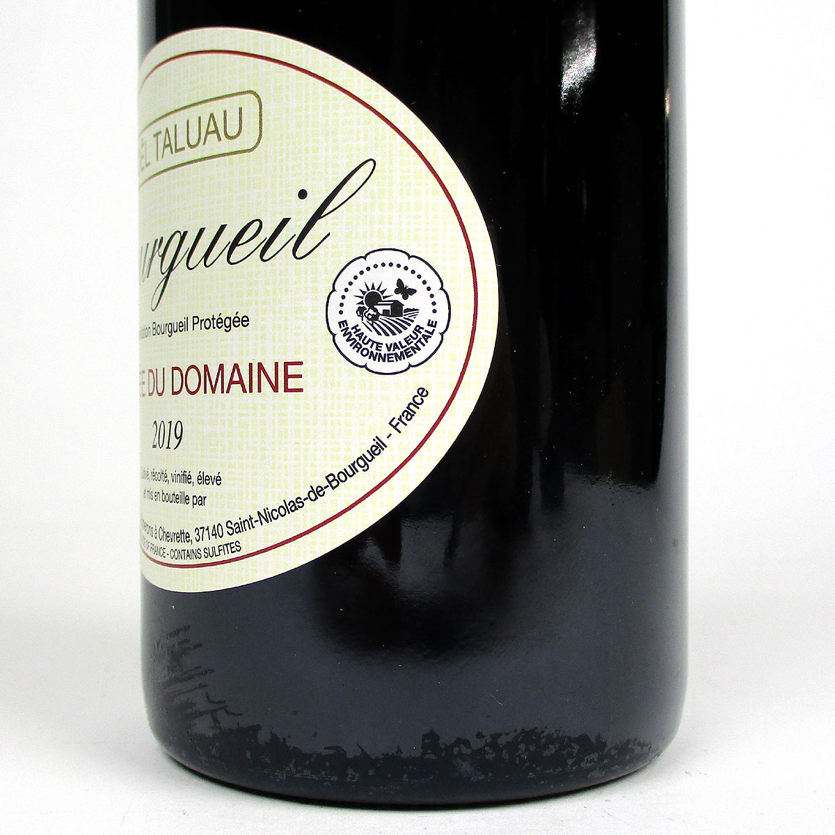 Bourgueil: Domaine Taluau-Foltzenlogel 2019 - Bottle Label - Haut Valeur Environnementale