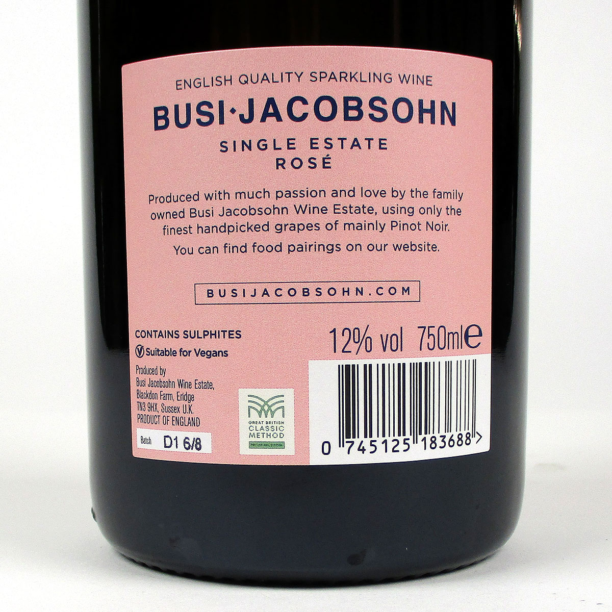 Busi Jacobsohn: Rosé 2018 - Bottle Rear Label