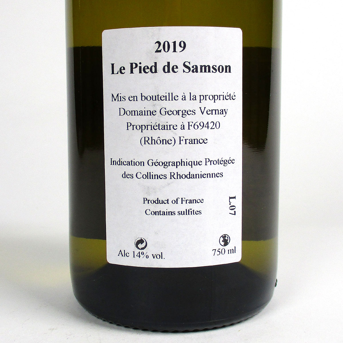 Bottle Rear Label