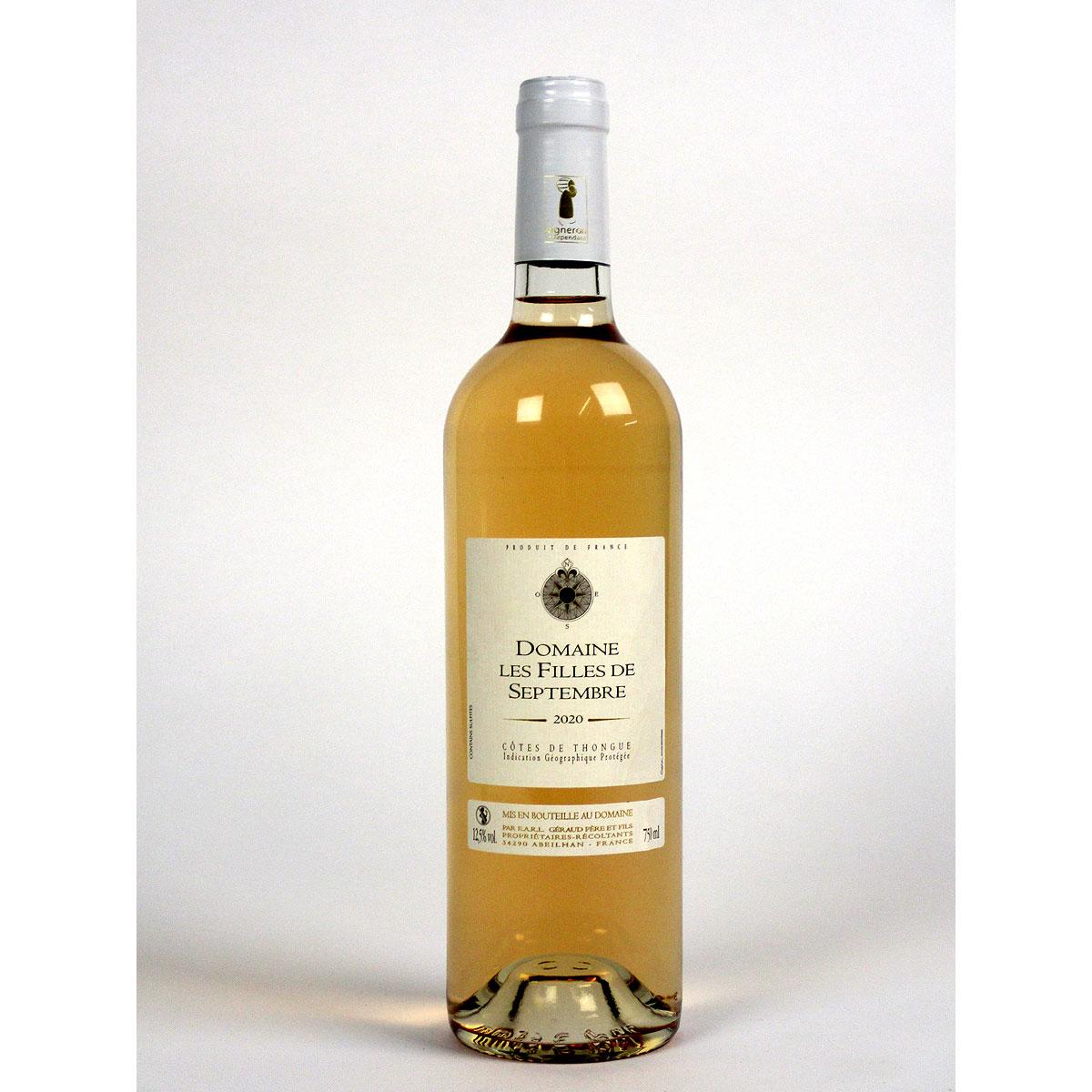 Côtes de Thongue: Domaine Les Filles de Septembre Rosé 2020 - Bottle