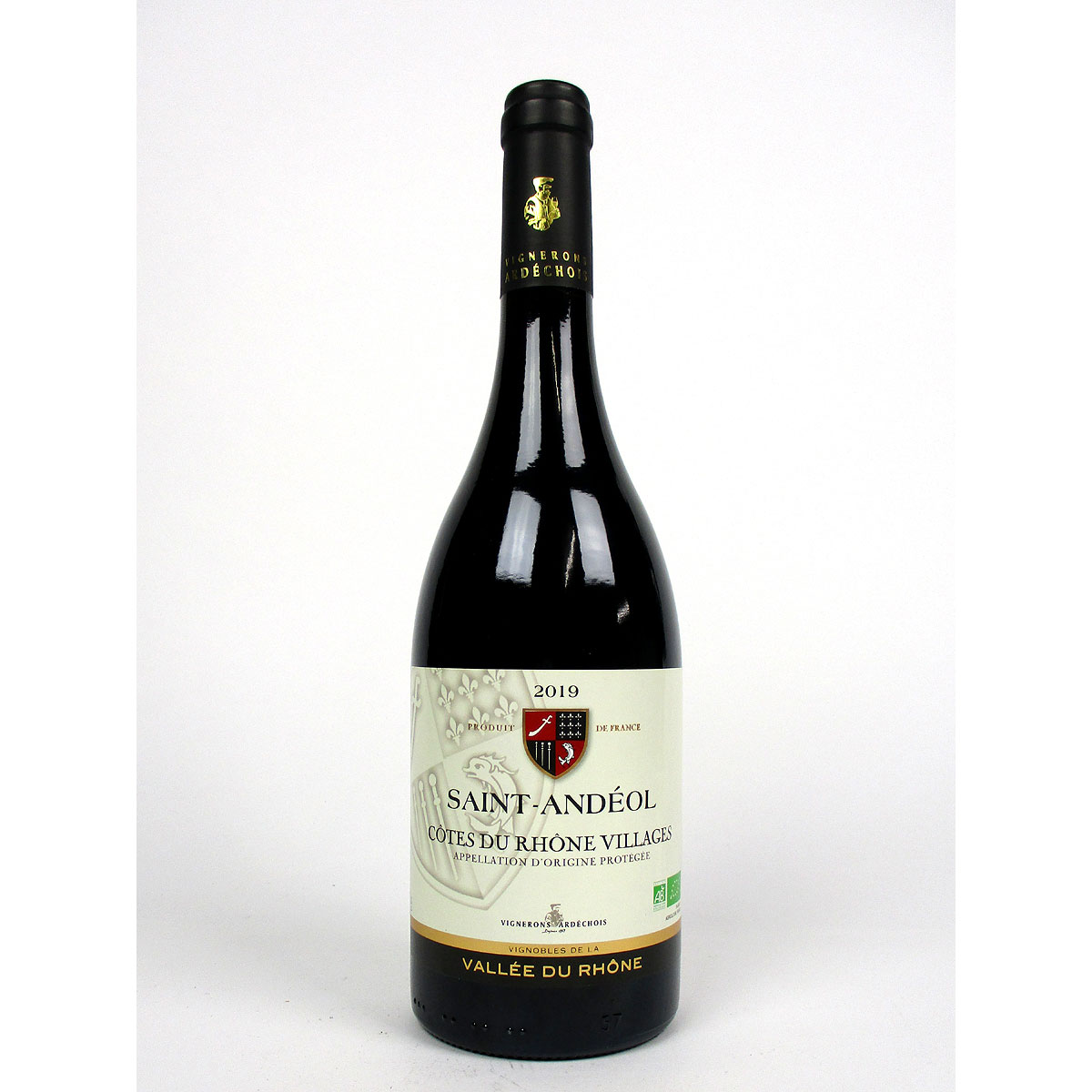 Côtes du Rhône Villages: Vignerons Ardéchois 'Saint-Andéol' 2019 - Bottle