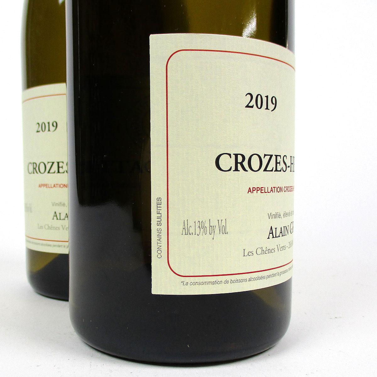 Crozes-Hermitage: Alain Graillot Blanc 2019 - Bottle Side Label