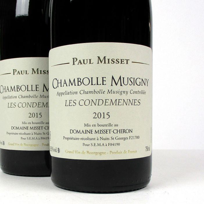 Chambolle Musigny: Domaine Misset-Cheron 'Les Condemennes' 2015