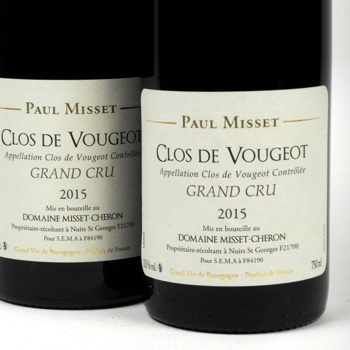 Clos de Vougeot: Domaine Paul Misset Grand Cru 2015