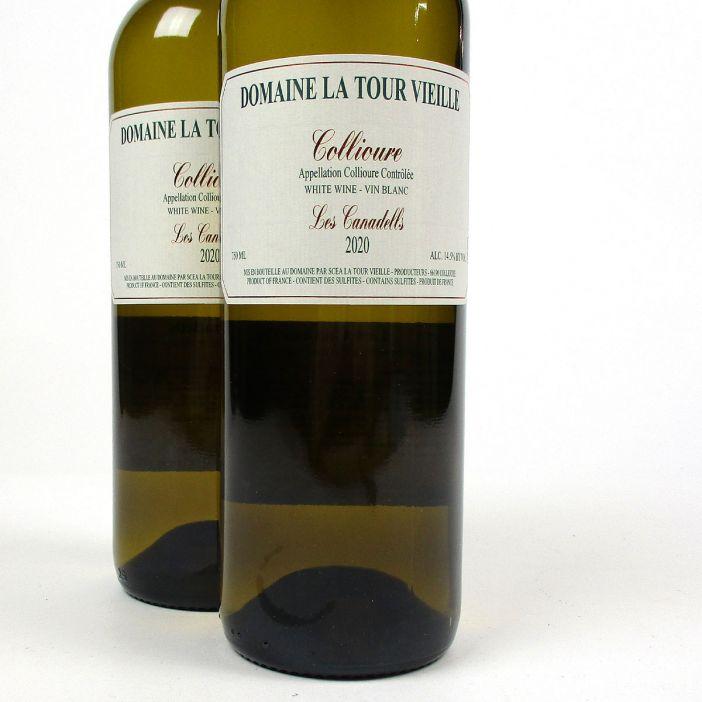 Collioure: Domaine La Tour Vieille 'Les Canadells' Blanc 2020
