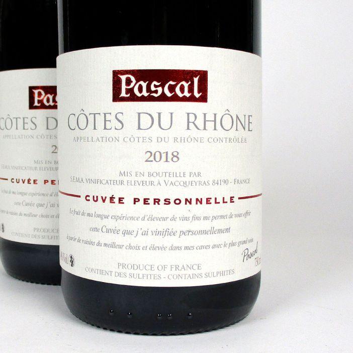 Côtes du Rhône: Pascal Frères 'Cuvée Personelle' 2018