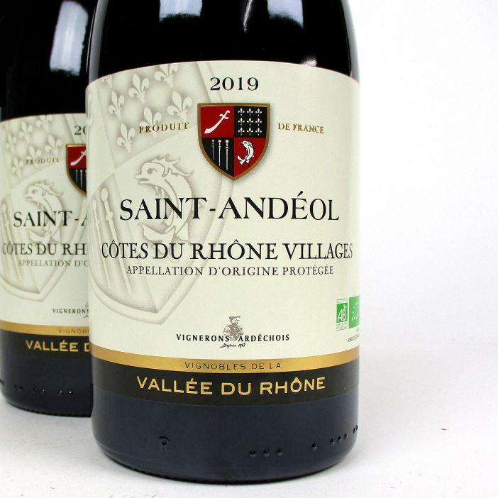 Côtes du Rhône Villages: Vignerons Ardéchois 'Saint-Andéol' 2019