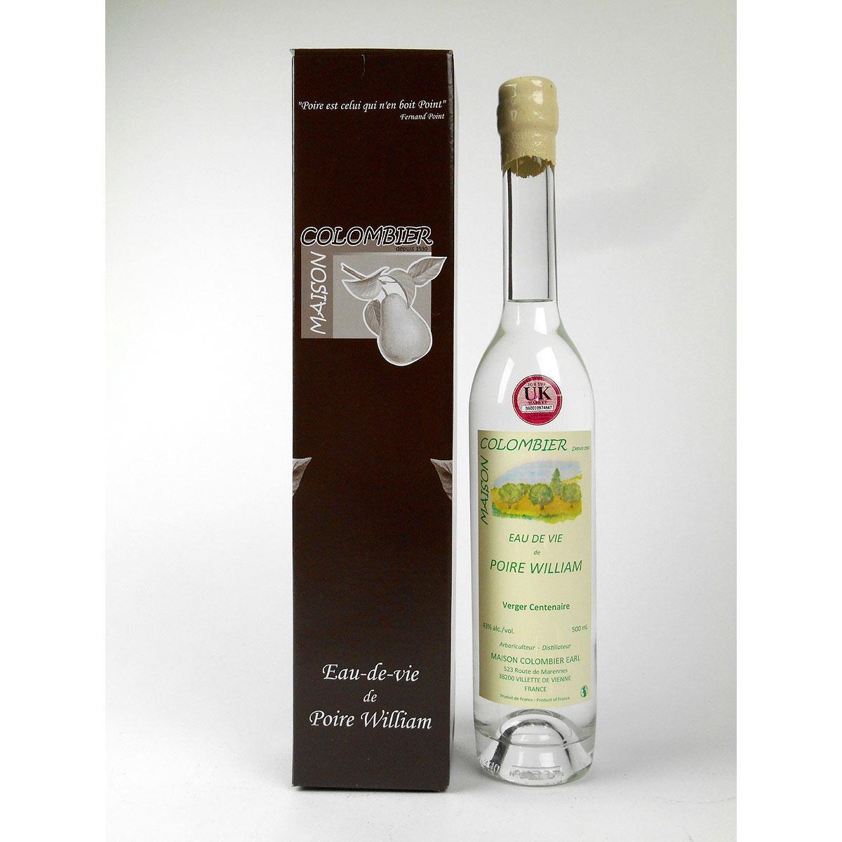 Eau de Vie de Poire William: Maison J. Colombier - Bottle