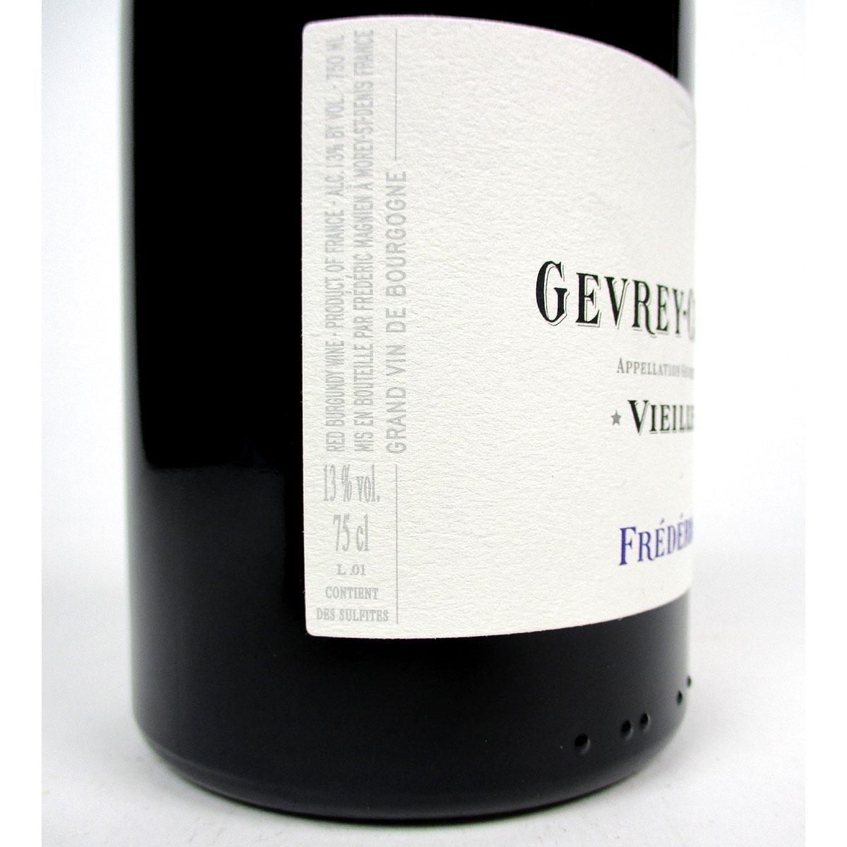 Gevrey-Chambertin: Frédéric Magnien 'Vieilles Vignes' 2017 - Side Label