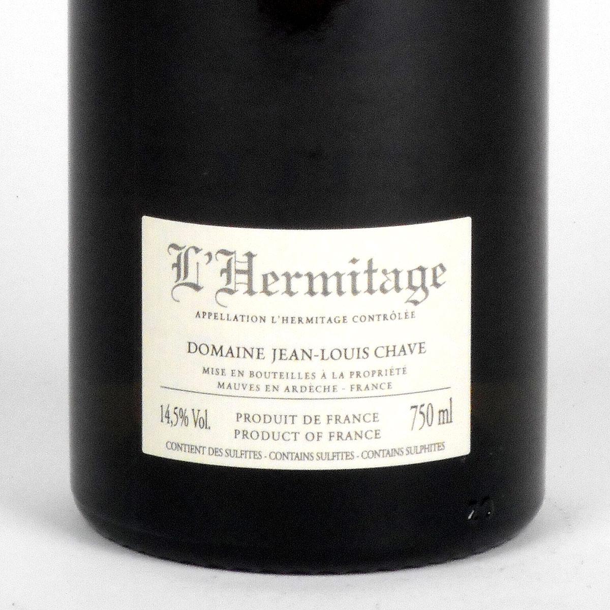 Hermitage: Jean-Louis Chave Blanc 2011 - Bottle Rear Label