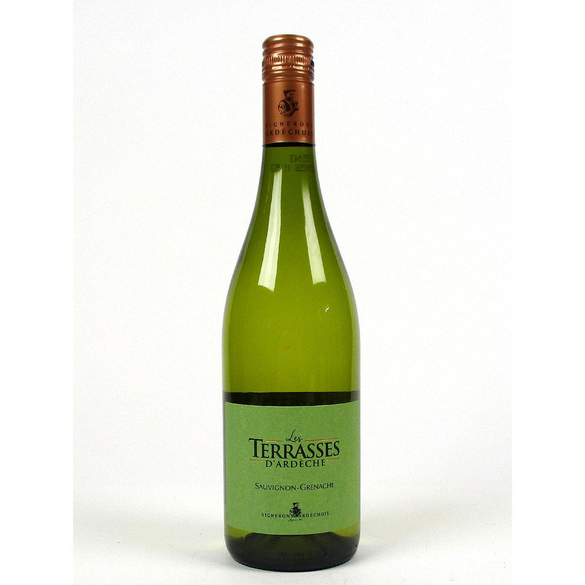 IGP Ardèche: Vignerons Ardéchois 'Les Terrasses' Blanc 2020 - Bottle