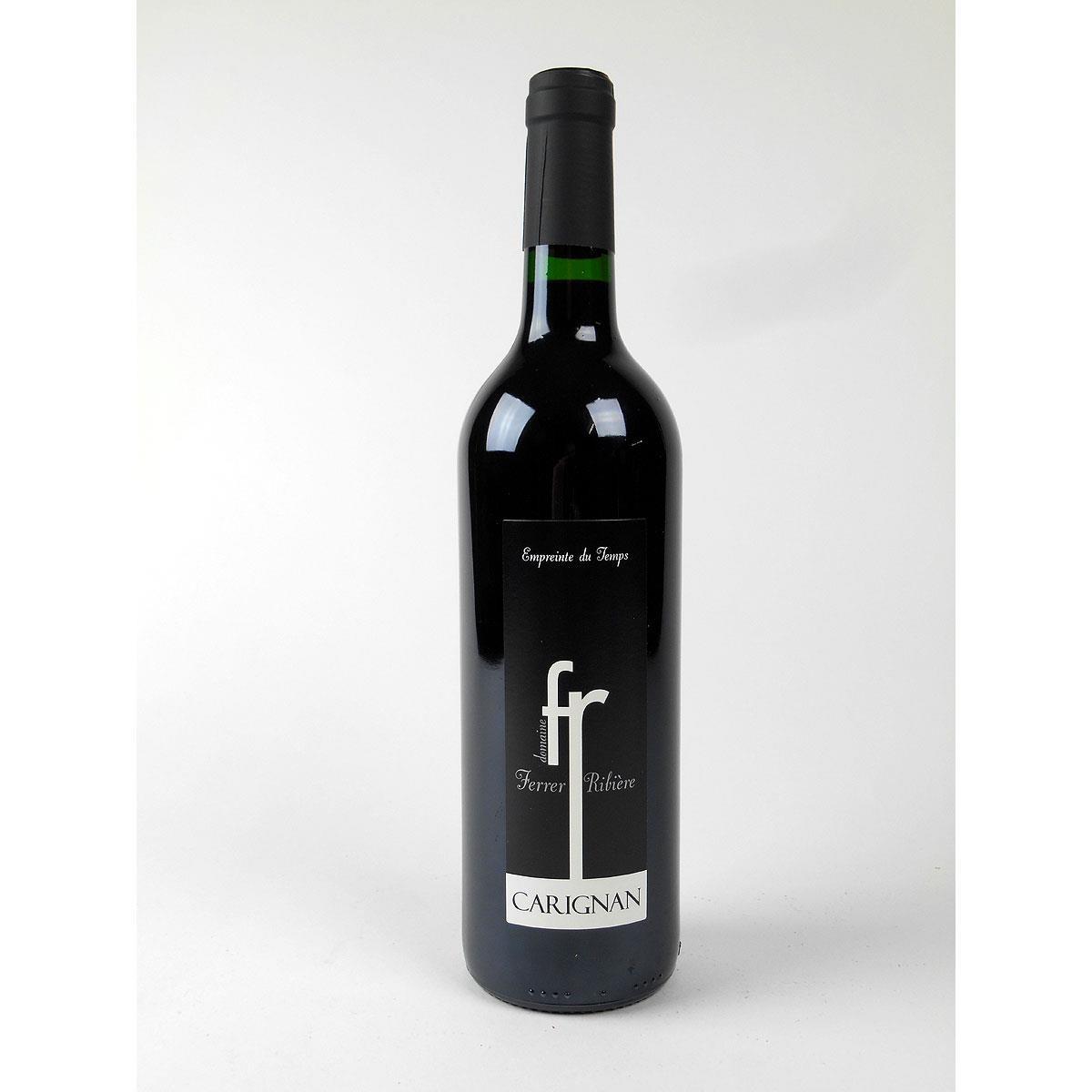 IGP Côtes Catalanes: Domaine Ferrer-Ribière 'Empreinte du Temps' Carignan 2017 - Wine Bottle