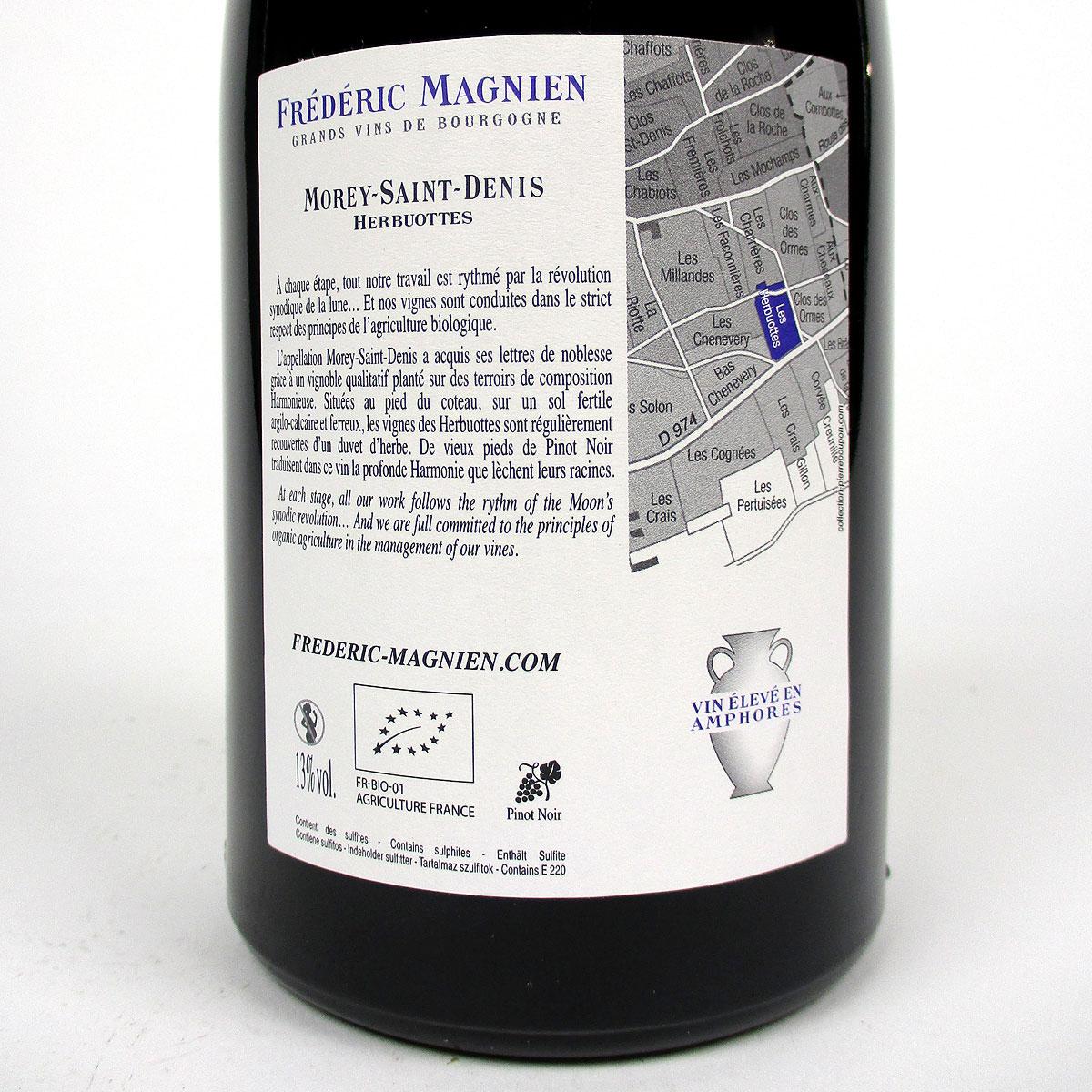 Morey-Saint-Denis: Frédéric Magnien 'Herbuottes' 2016 - Bottle Rear Label