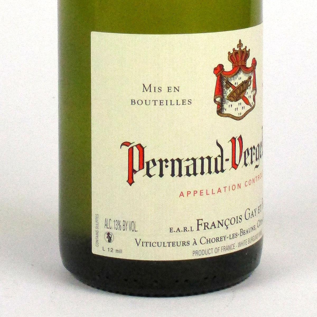 Pernand-Vergelesses: Domaine François Gay & Fils 2019 - Bottle Label Side