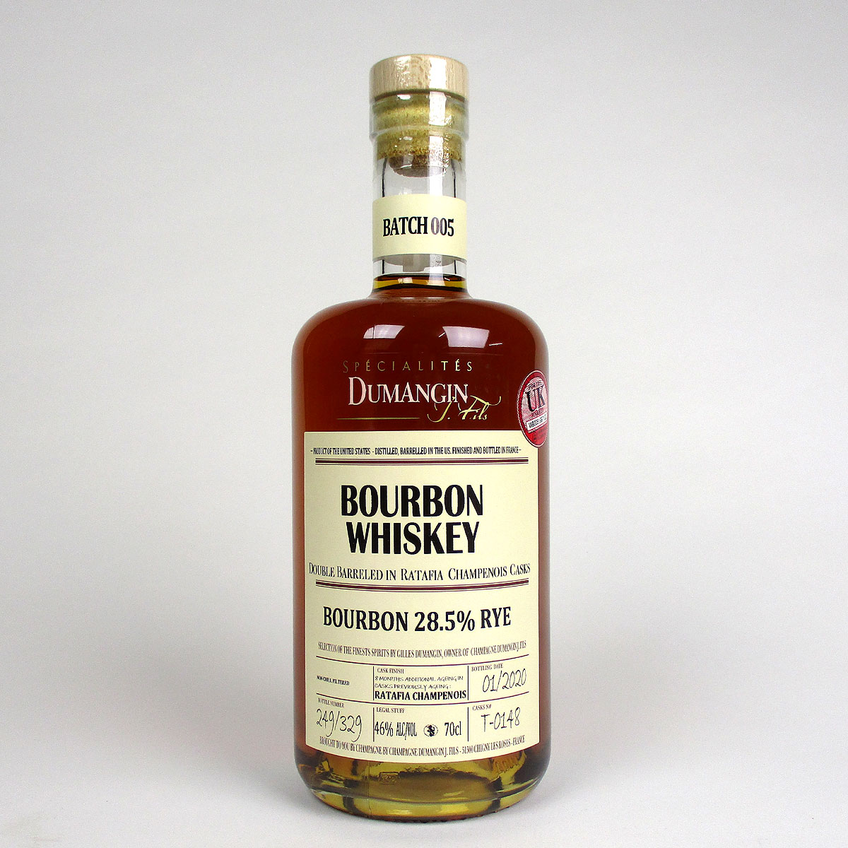 Rye Bourbon Whiskey: Spécialités Dumangin - Bottle