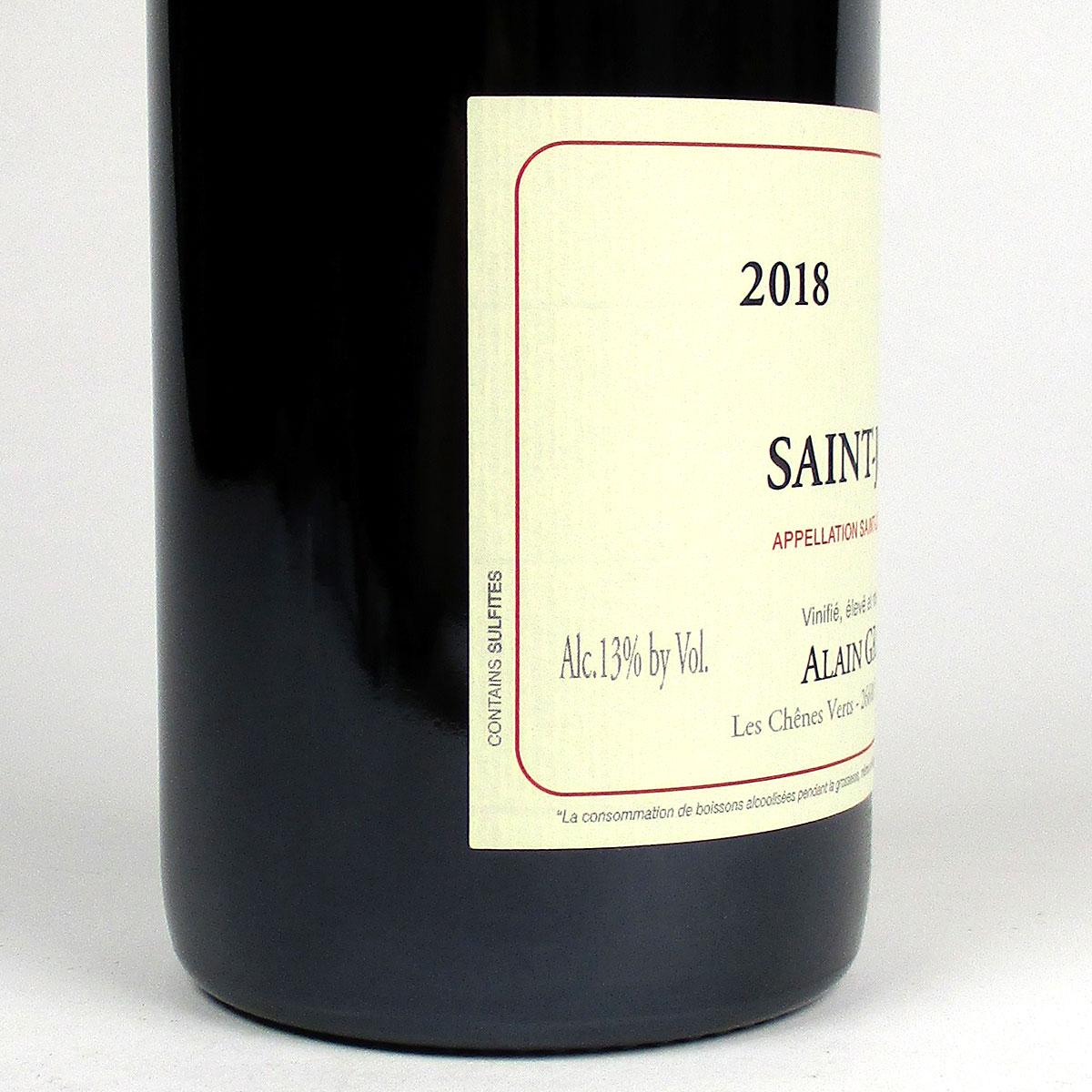 Saint-Joseph: Alain Graillot Rouge 2018 - Bottle Side