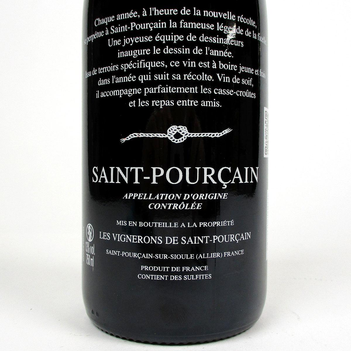 Saint-Pourçain: 'La Ficelle' Rouge 2020 - Bottle Rear Label