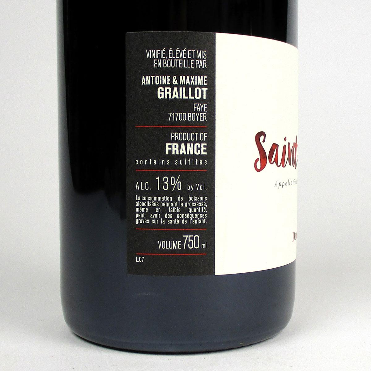 AOC Saint-Amour: Domaine de Fa 2018 - Bottle Side Label