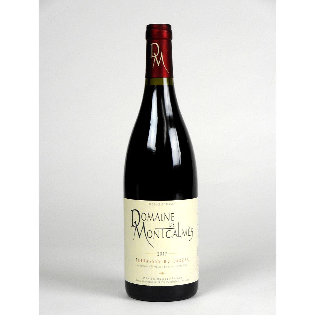 AOC Terrasses du Larzac: Domaine de Montcalmès Rouge 2017 - Bottle
