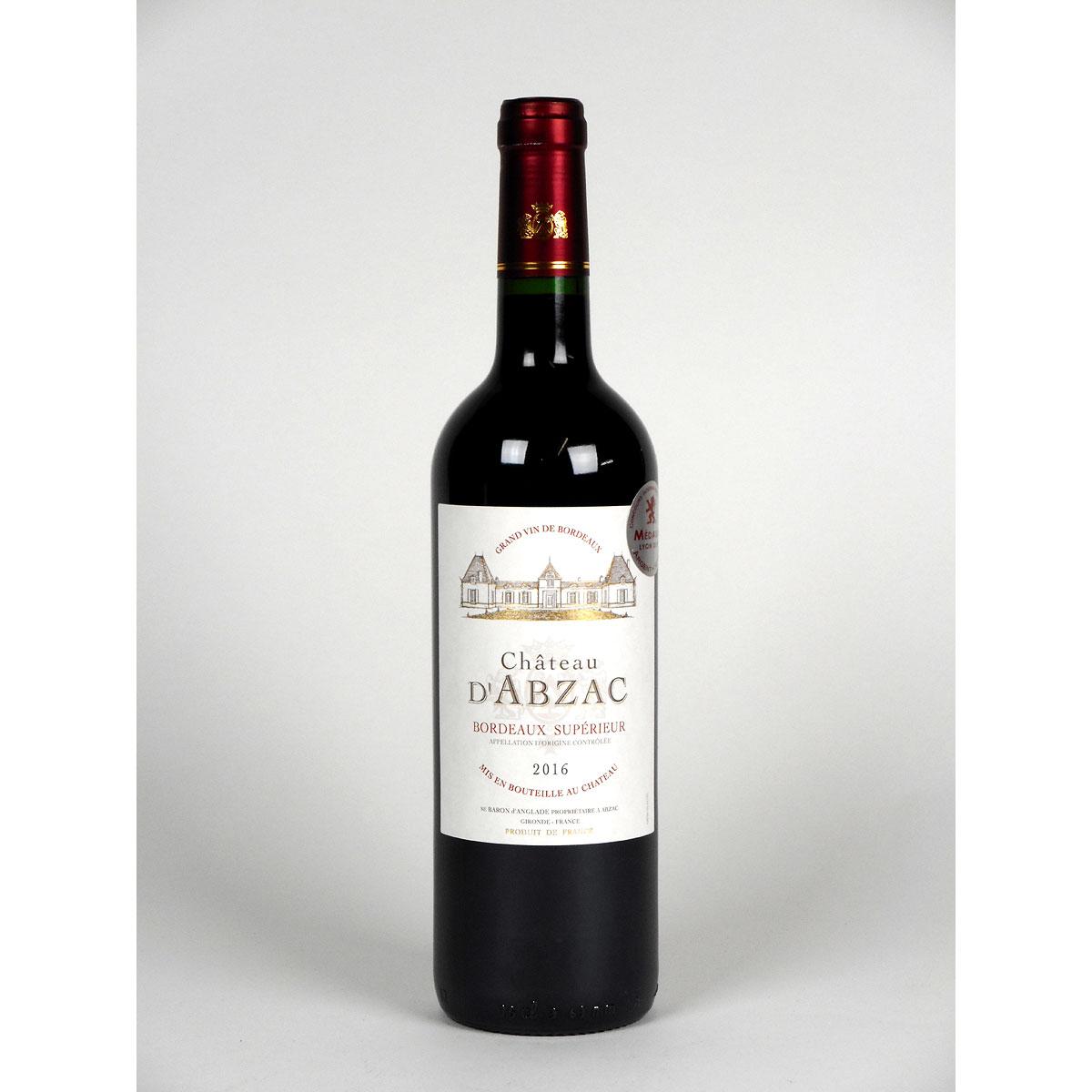 Bordeaux Supérieur: Château d'Abzac 2016 - Bottle
