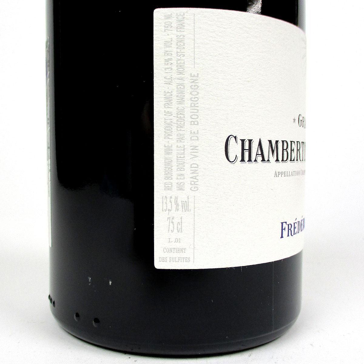 Chambertin-Clos de Bèze: Frédéric Magnien Grand Cru 2017 - Bottle Label Side