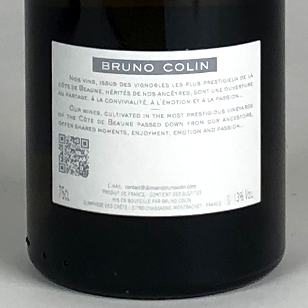 Chassagne-Montrachet: Domaine Bruno Colin 2018 - Bottle Rear Label