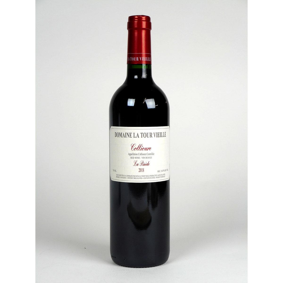 Collioure: Domaine La Tour Vieille 'La Pinède' 2018 - Bottle