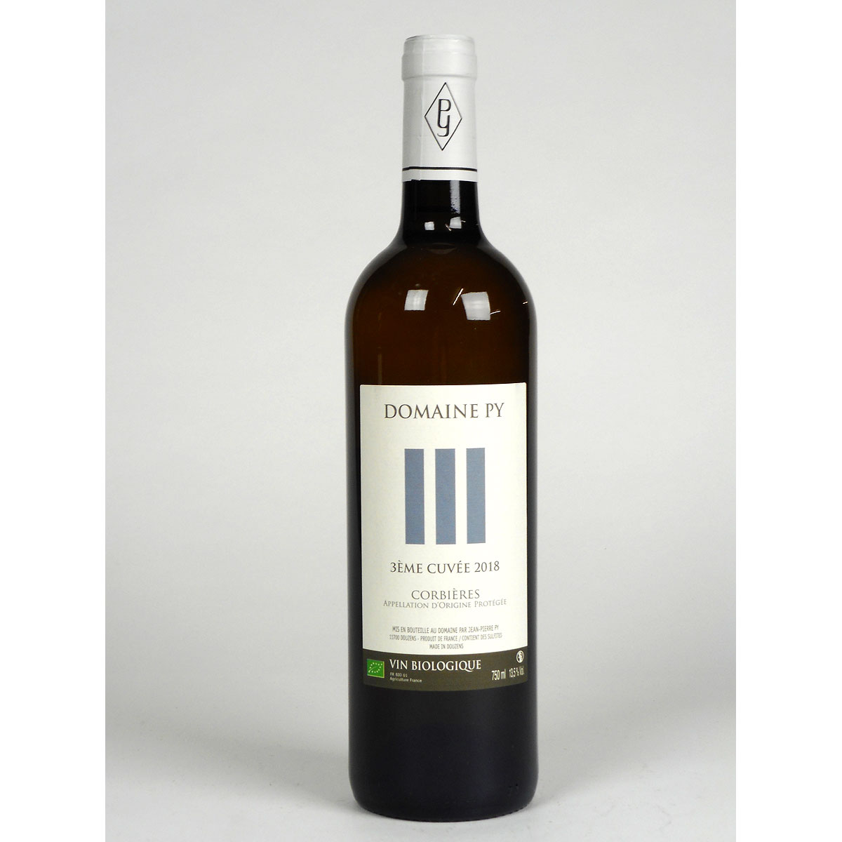 Corbières: Domaine Py '3ème Cuvée' Blanc 2018 - Bottle