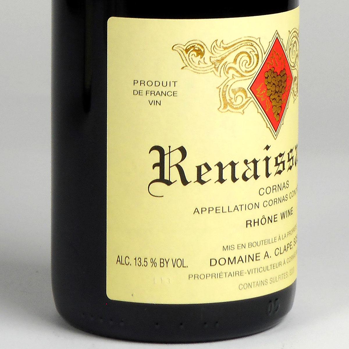 Cornas: Domaine Clape 'Renaissance' 2016 - Bottle Side Label