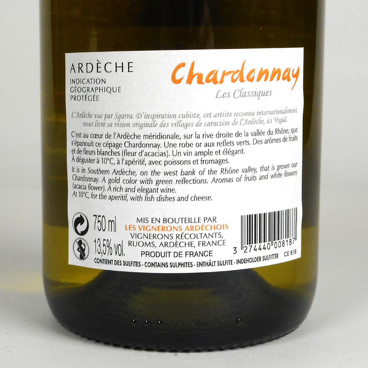 Coteaux de l'Ardèche: Cépage Chardonnay 2019 - Bottle