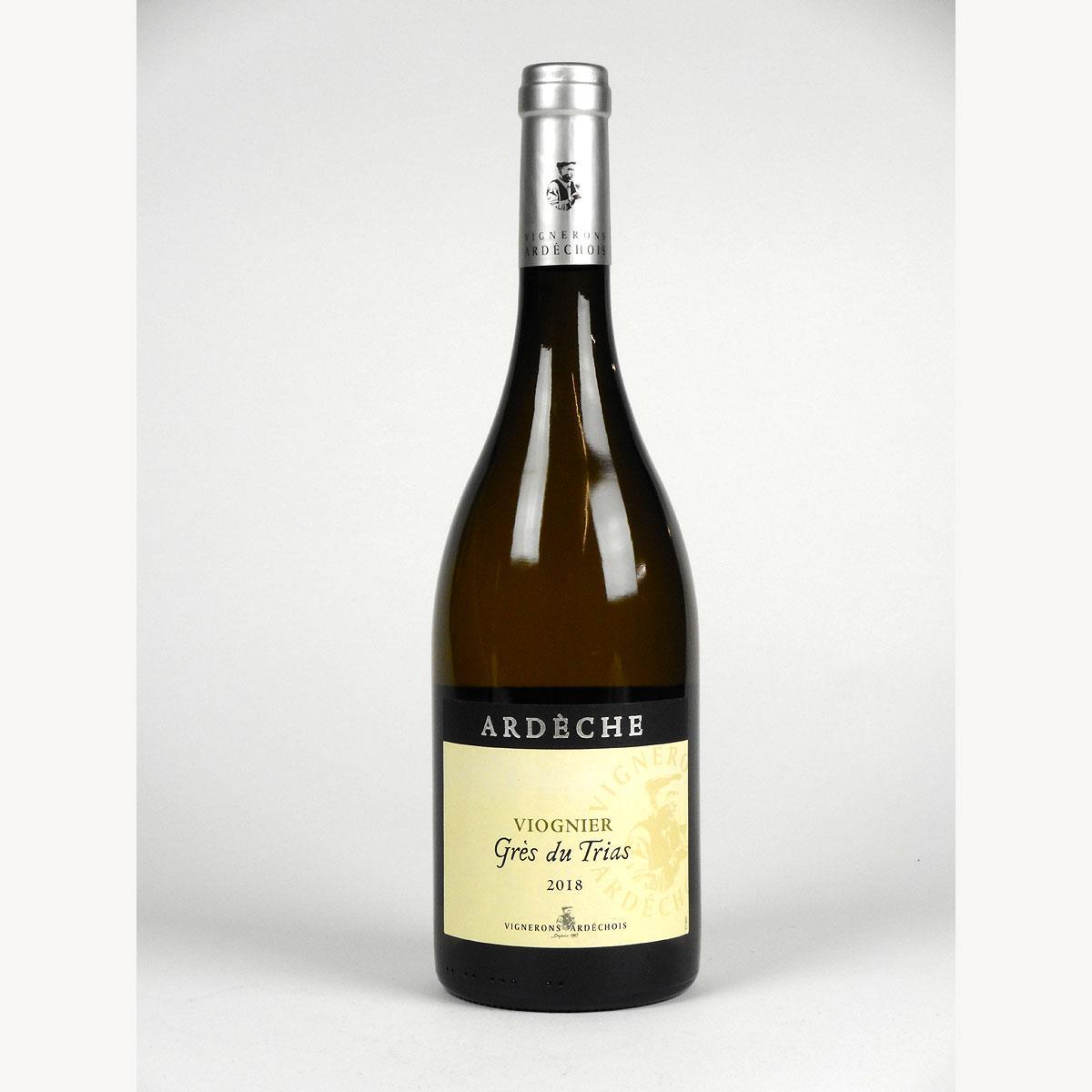 Coteaux de l'Ardèche: Cépage Viognier 'Grès du Trias' 2018 - Bottle
