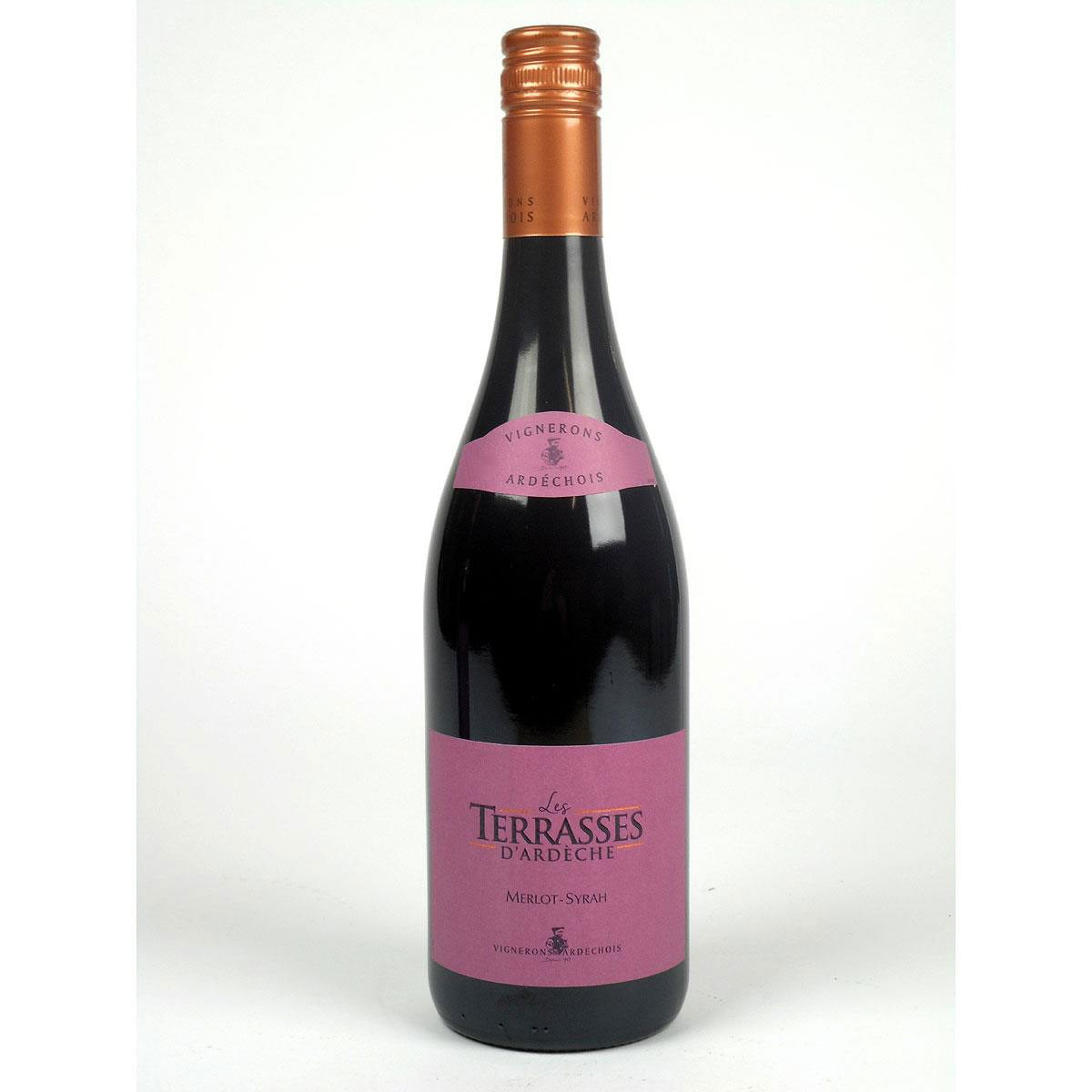 Coteaux de l'Ardèche: 'Les Terrasses' Rouge 2019 - Bottle