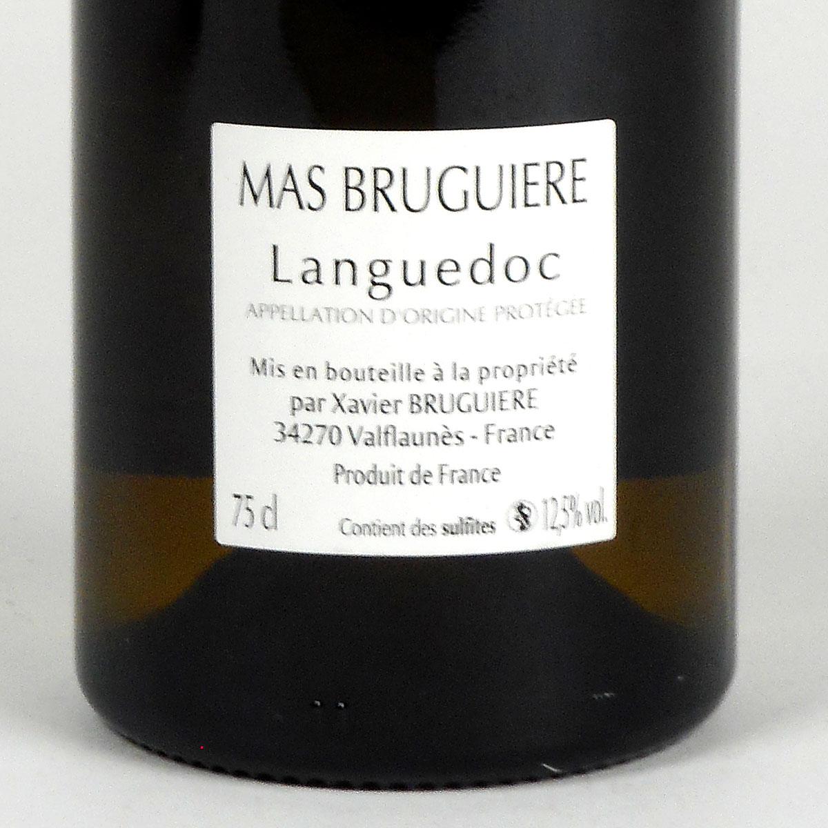 Coteaux du Languedoc: Mas Bruguière 'Les Mûriers' 2019 - Bottle Rear