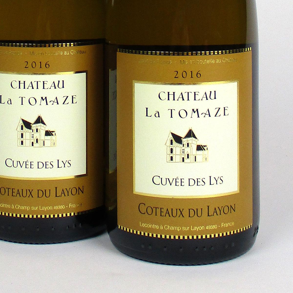 Coteaux du Layon: 'Cuvée des Lys' Château la Tomaze 2016