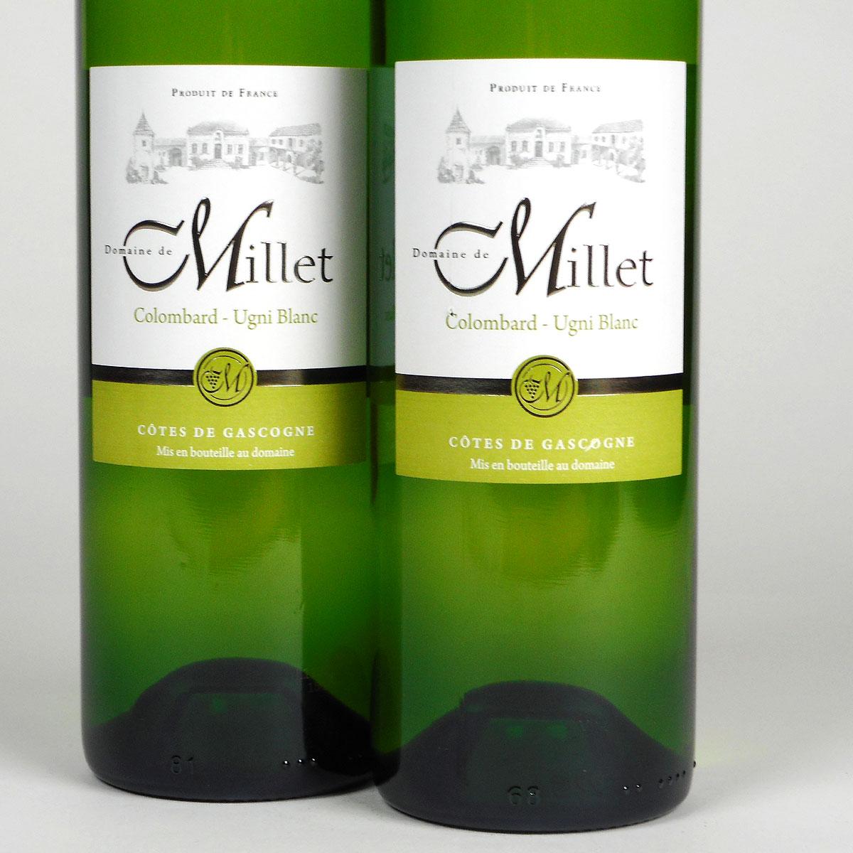 Côtes de Gascogne: Domaine Millet Colombard - Ugni Blanc 2019