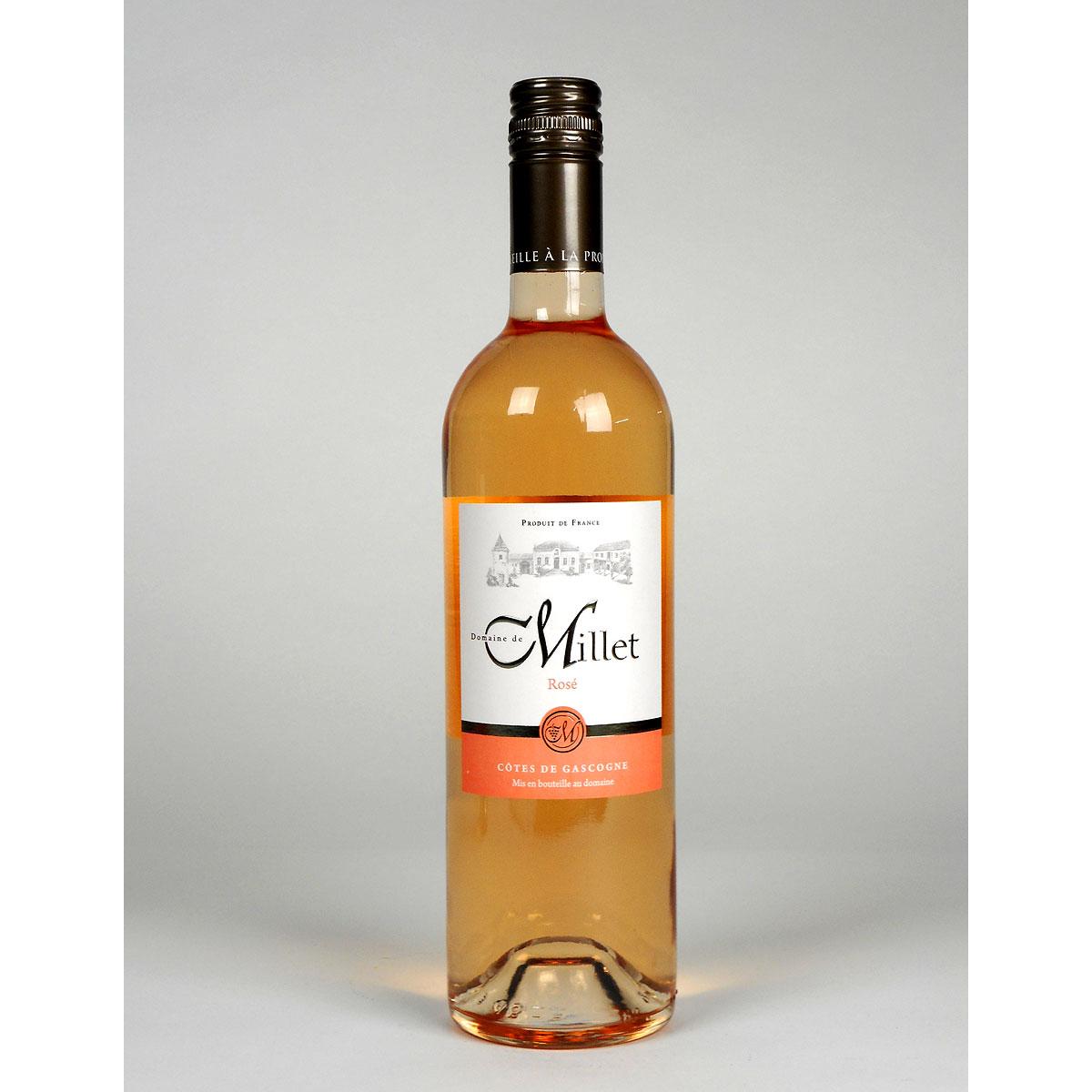 Côtes de Gascogne: Domaine Millet Rosé 2019 - Wine Bottle