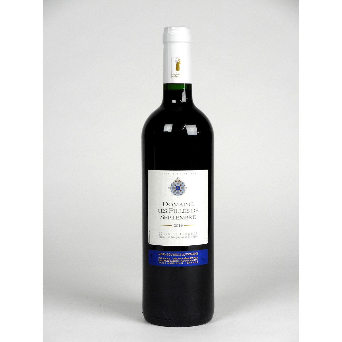 Côtes de Thongue: Domaine Les Filles de Septembre 'Tradition' 2019 - Bottle