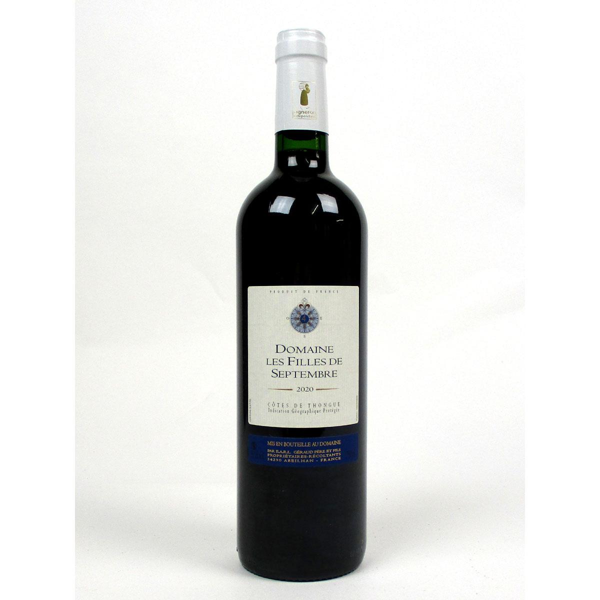 Côtes de Thongue: Domaine Les Filles de Septembre 'Tradition' 2020 - Bottle