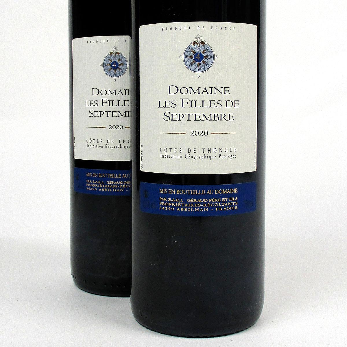 Côtes de Thongue: Domaine Les Filles de Septembre 'Tradition' 2020