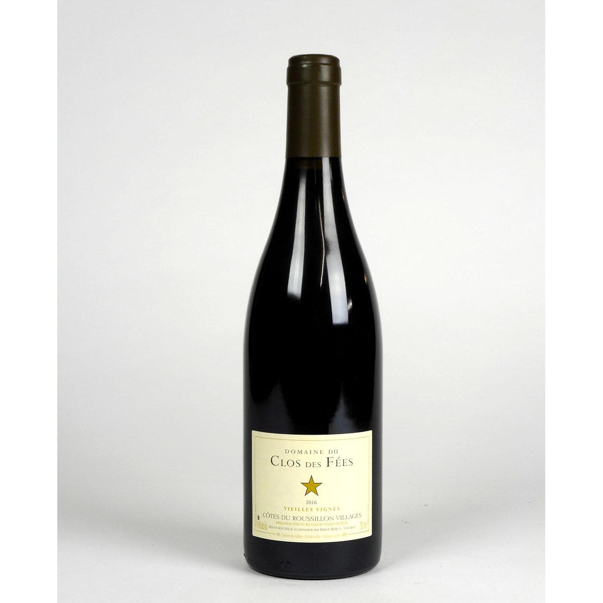 Côtes du Roussillon Villages: Domaine du Clos des Fées 'Vieilles Vignes' Rouge 2016 - Bottle