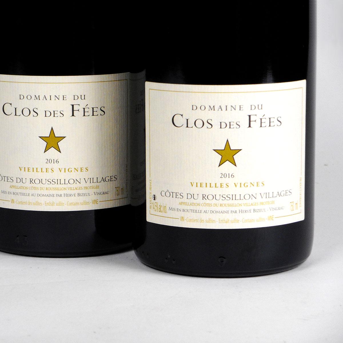 Côtes du Roussillon Villages: Domaine du Clos des Fées 'Vieilles Vignes' Rouge 2016
