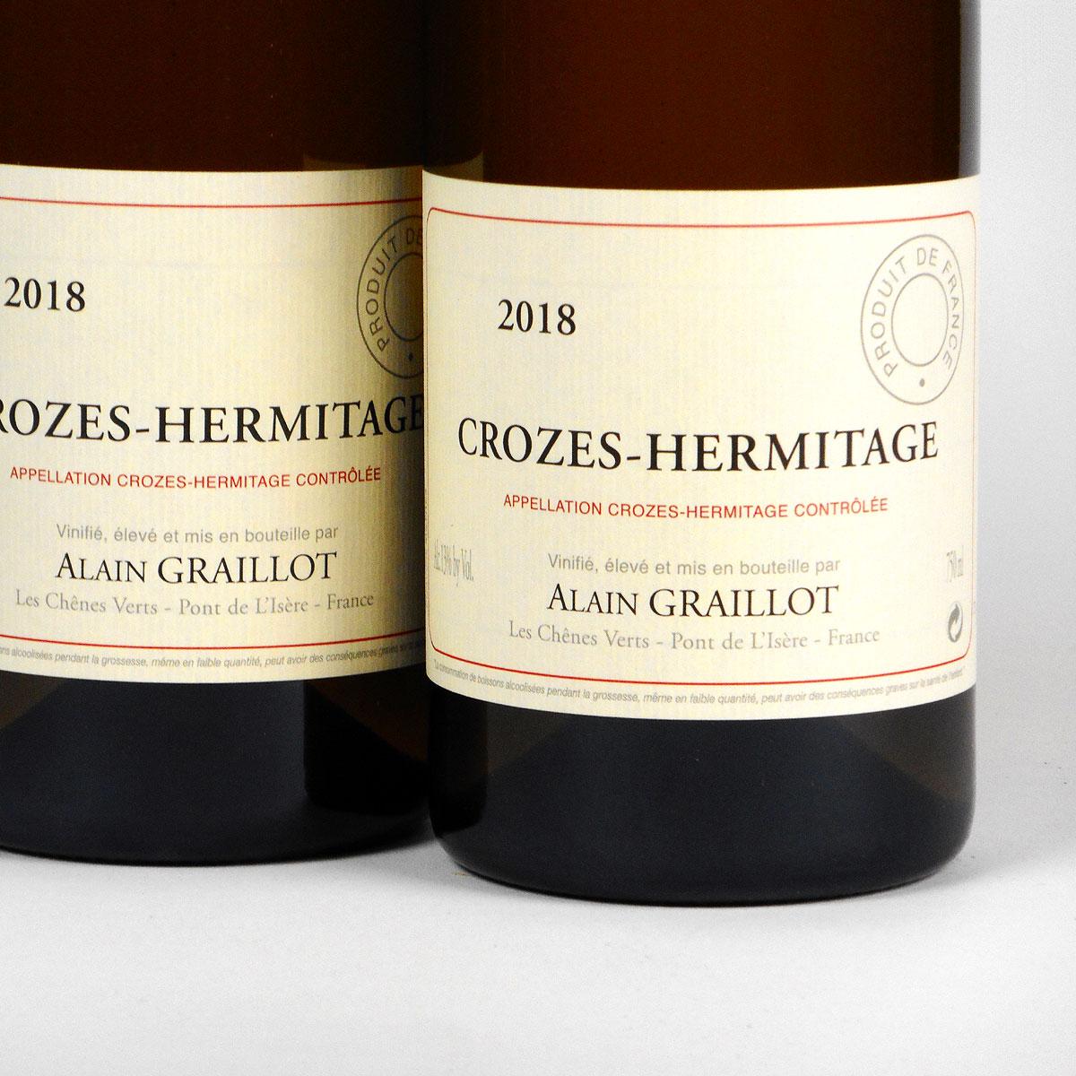 Crozes Hermitage Blanc: Alain Graillot 2018