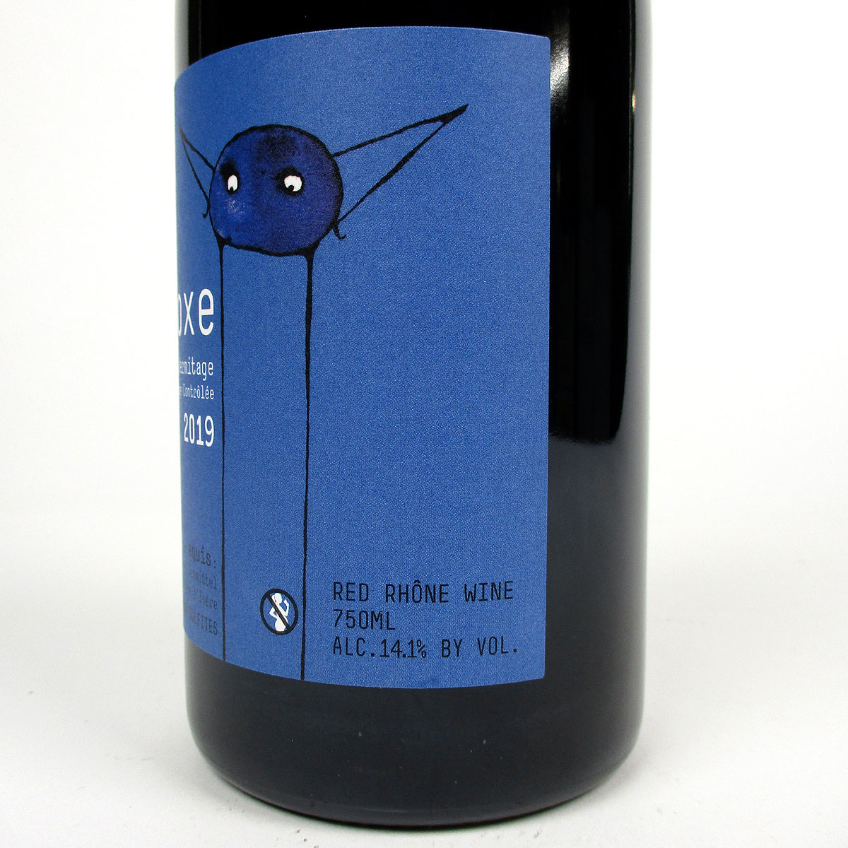 Crozes Hermitage: Domaine Equis 'Equinoxe' 2019 - Bottle Side Label