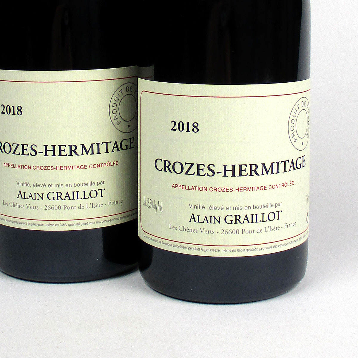 Crozes Hermitage Rouge: Alain Graillot 2018
