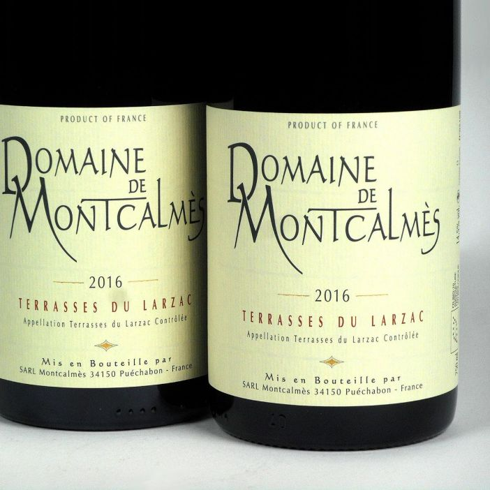 AOC Terrasses du Larzac: Domaine de Montcalmès Rouge 2016