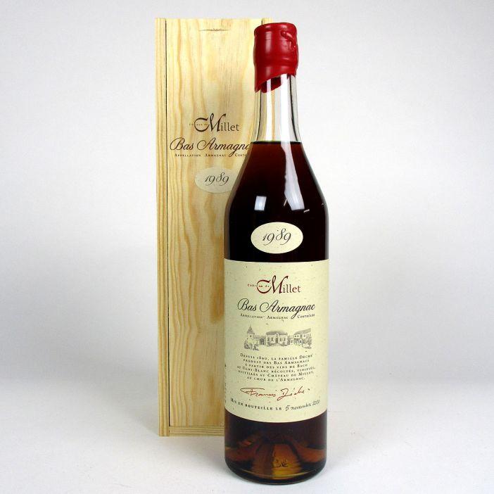 Bas Armagnac - Château de Millet 1989 - Wit wooden presentation box